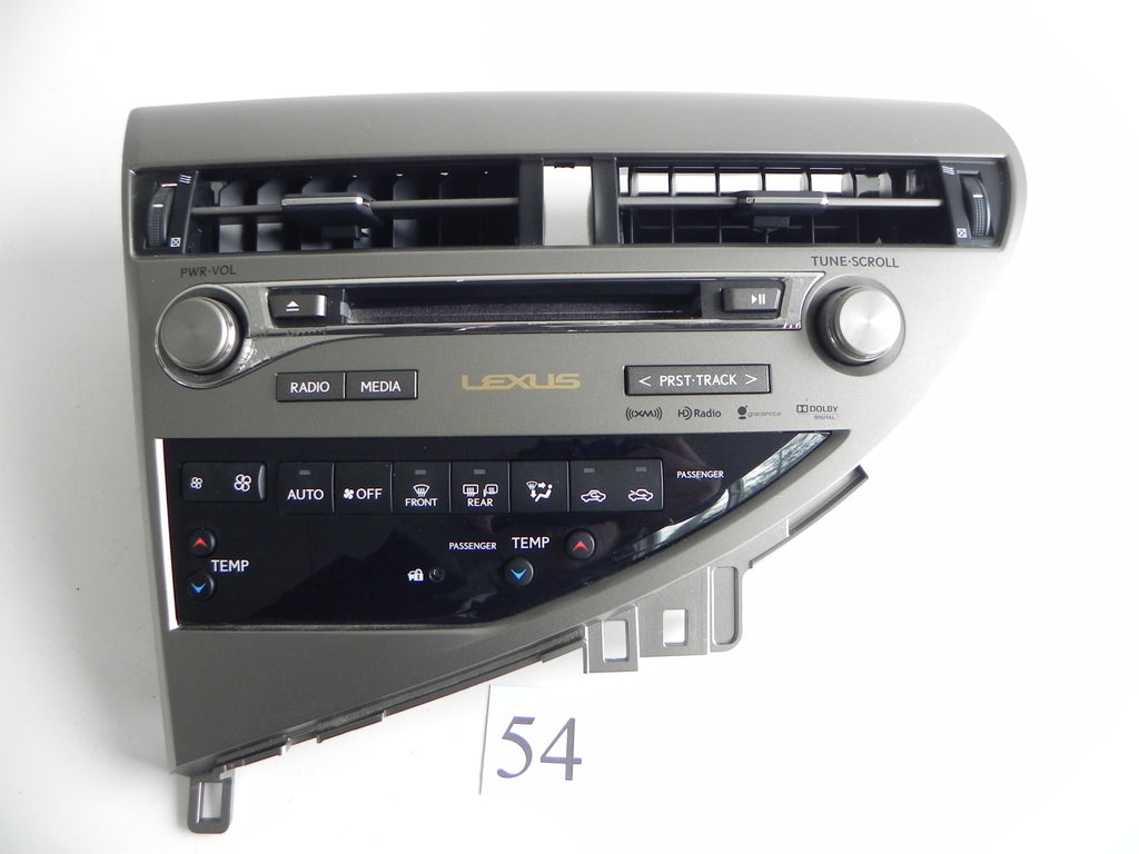 2013 LEXUS RX350 TEMP CD PLAYER CHANGER RADIO SOUND CONTROL PANEL OEM 359 #54 A