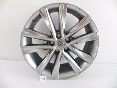 2013 LEXUS IS250 IS350 WHEEL RIM SINGLE R18 SILVER ALLOY OEM 298 #34 A