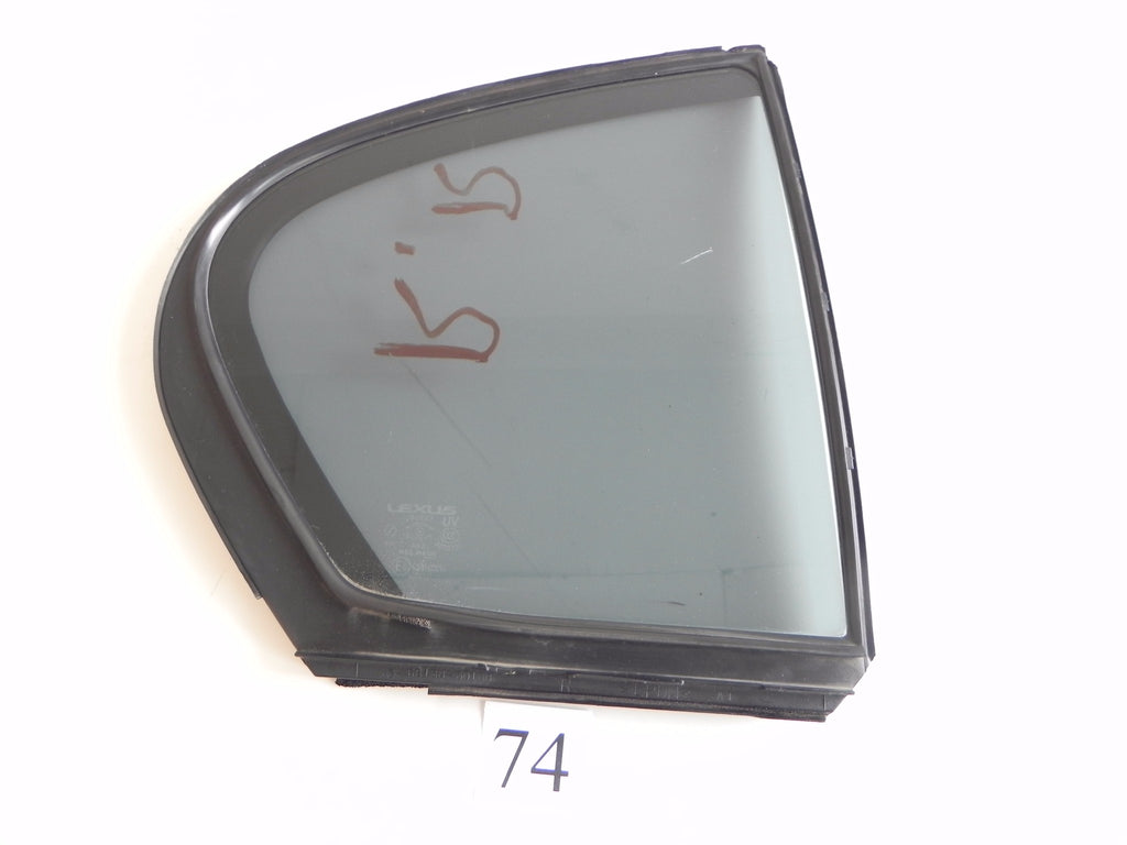 2006 LEXUS GS300 GS350 QUARTER GLASS WINDOW REAR RIGHT PASSENGER OEM 178 #74 A - Advancebay, Inc.