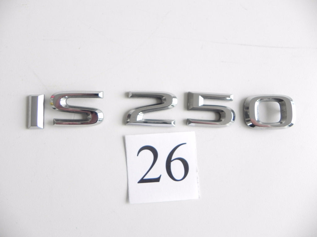2009 LEXUS IS250 REAR TRUNK LID EMBLEM LOGO BADGE CHROME FACTORY OEM 742 #26 A