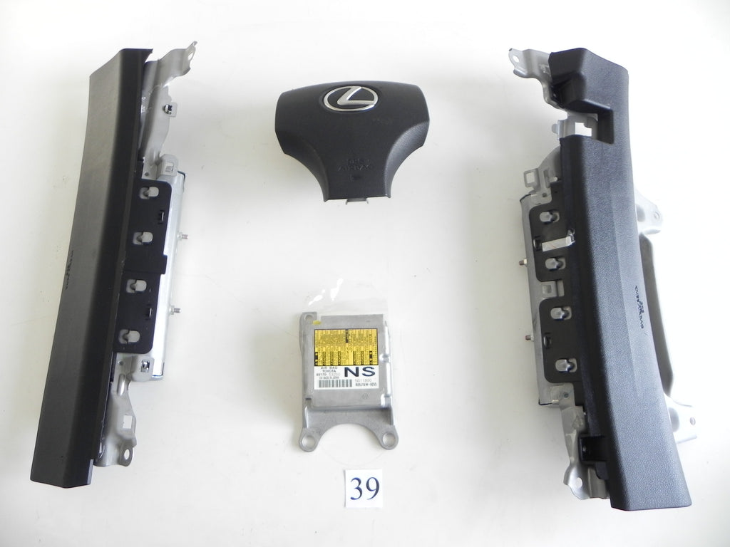 2010 LEXUS IS250 IS350 STEERING WHEEL KNEE AIR BAG MODULE SRS SET OEM 922 #39 A