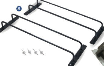KS2278 Fixed window kit. (front top door) includes glass and rubber seal.