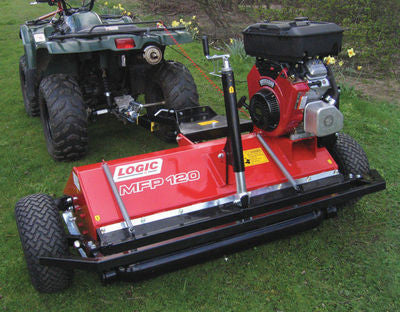 LOGIC MFT SCRUB BUSTER FLAIR MOWER/TOPPER (wheels alongside)
