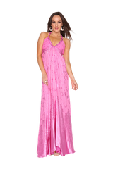 Pink Devore empress gown
