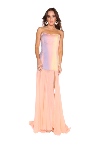 Sunset Strapless gown