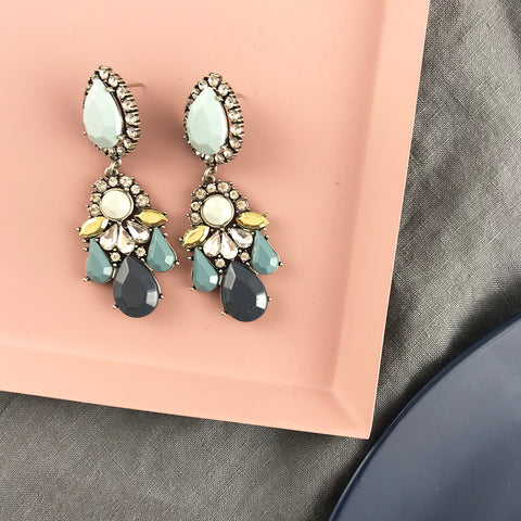GIGI EARRING - DUSTY TEAL