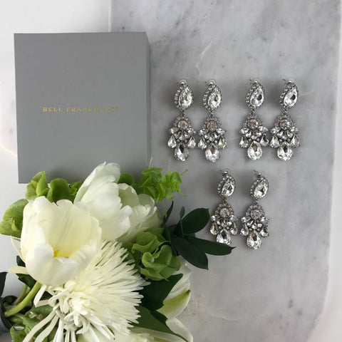WEDDING PACK- GIGI CRYSTAL X 3 PAIRS