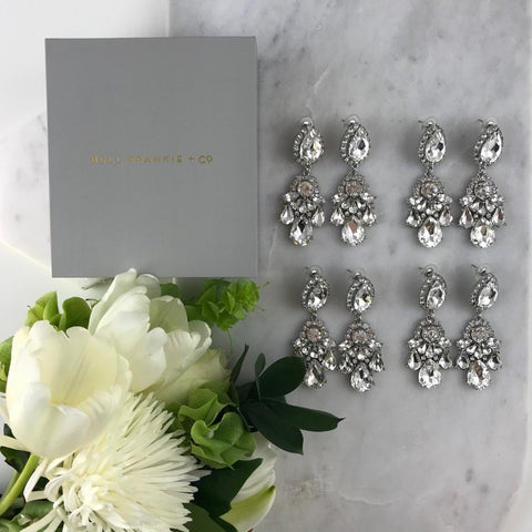 WEDDING PACK- GIGI CRYSTAL X 4 PAIRS