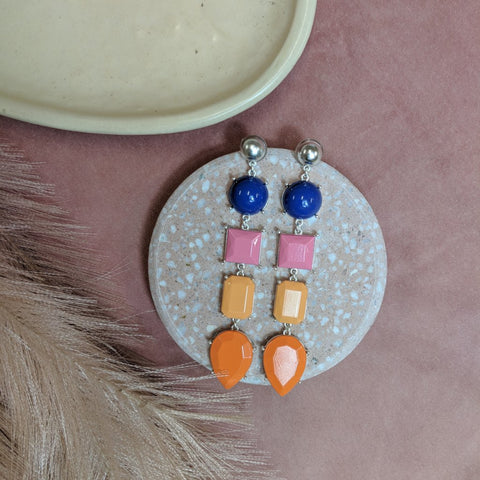 CLEO EARRING- CORAL