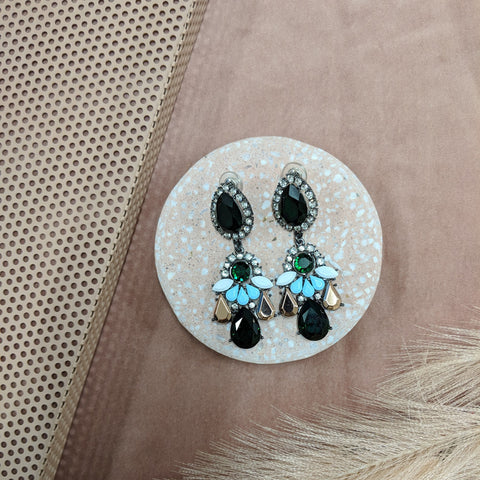 GIGI EARRING - Emerald Green