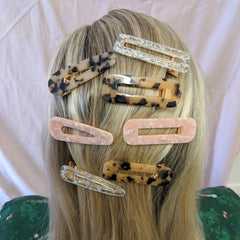GOLD FOIL HAIR CLIP SET
