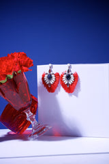 IRIS EARRING- RED