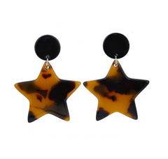 TORTOISE SHELL STAR DROP - Black Brown
