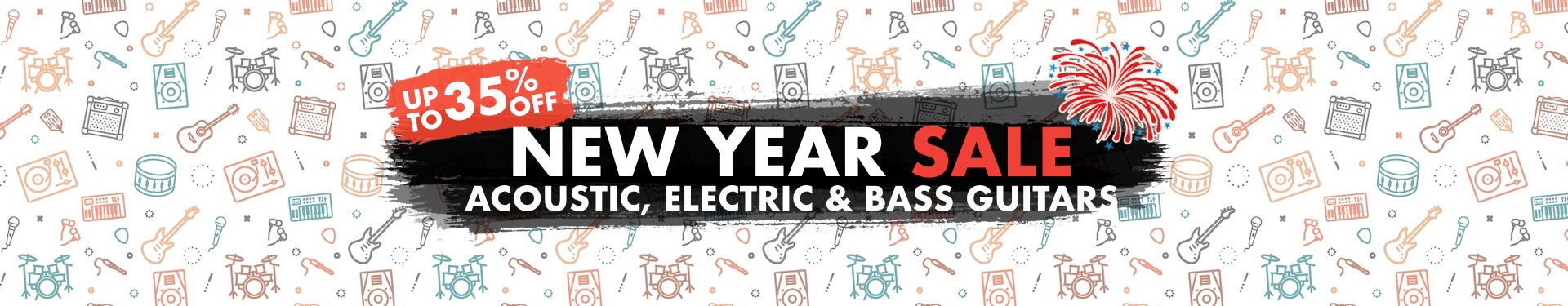 New Year Acoustic, Electric & Bass Guitars