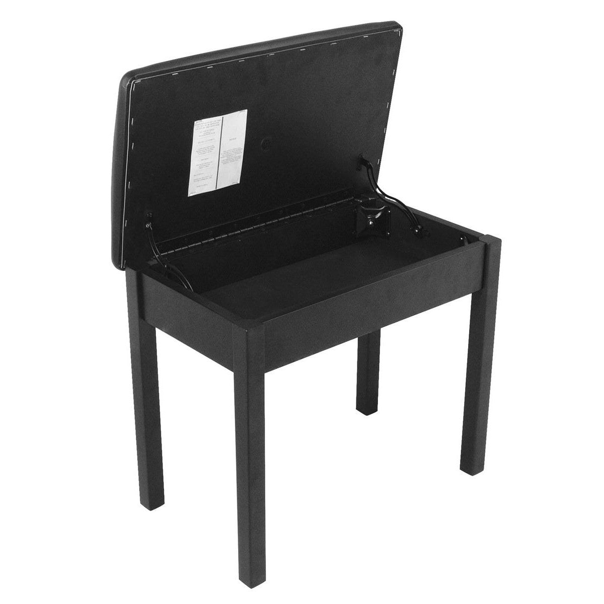 On-Stage KB8902B Piano Bench Flip Top Black