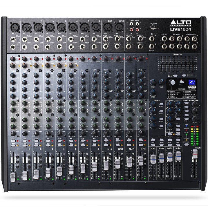 Alto LIVE 1604 Professional 16-Channel/4-Bus Mixer | Music Experience | Shop Online | South Africa