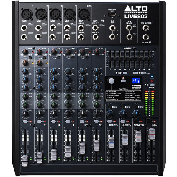Alto LIVE 802 Professional 8-Channel/2-Bus Mixer | Music Experience | Shop Online | South Africa