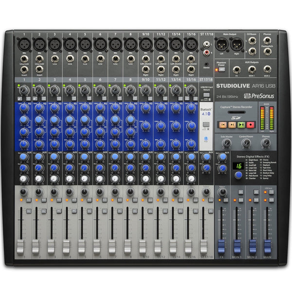PreSonus StudioLive AR16 USB Mixer | Music Experience | Shop Online | South Africa
