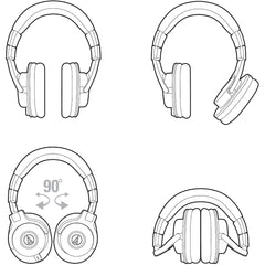 Audio-Technica ATH-M50x Headphones | Music Experience Online | South Africa