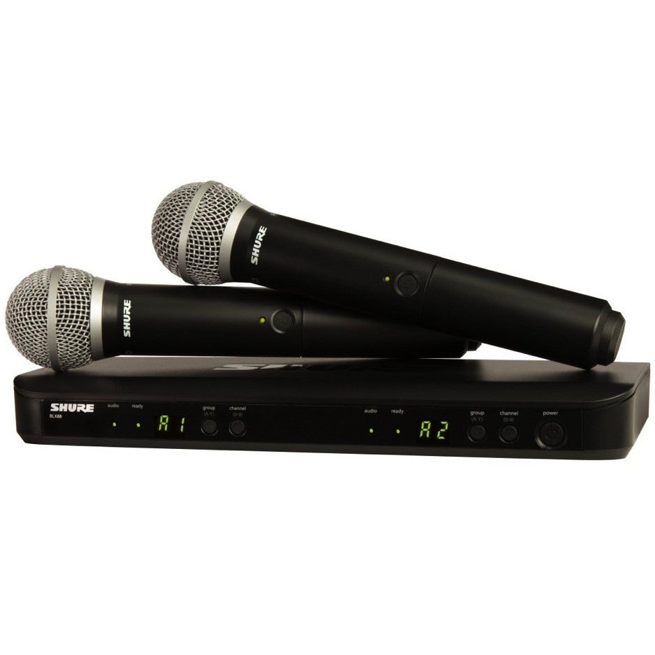 Shure BLX288/PG58 Dual Channel Handheld Wireless System | Music Experience | Shop Online | South Africa