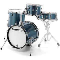 Ludwig Breakbeats By Questlove 4-piece Shell Pack with Snare Drum - Blue