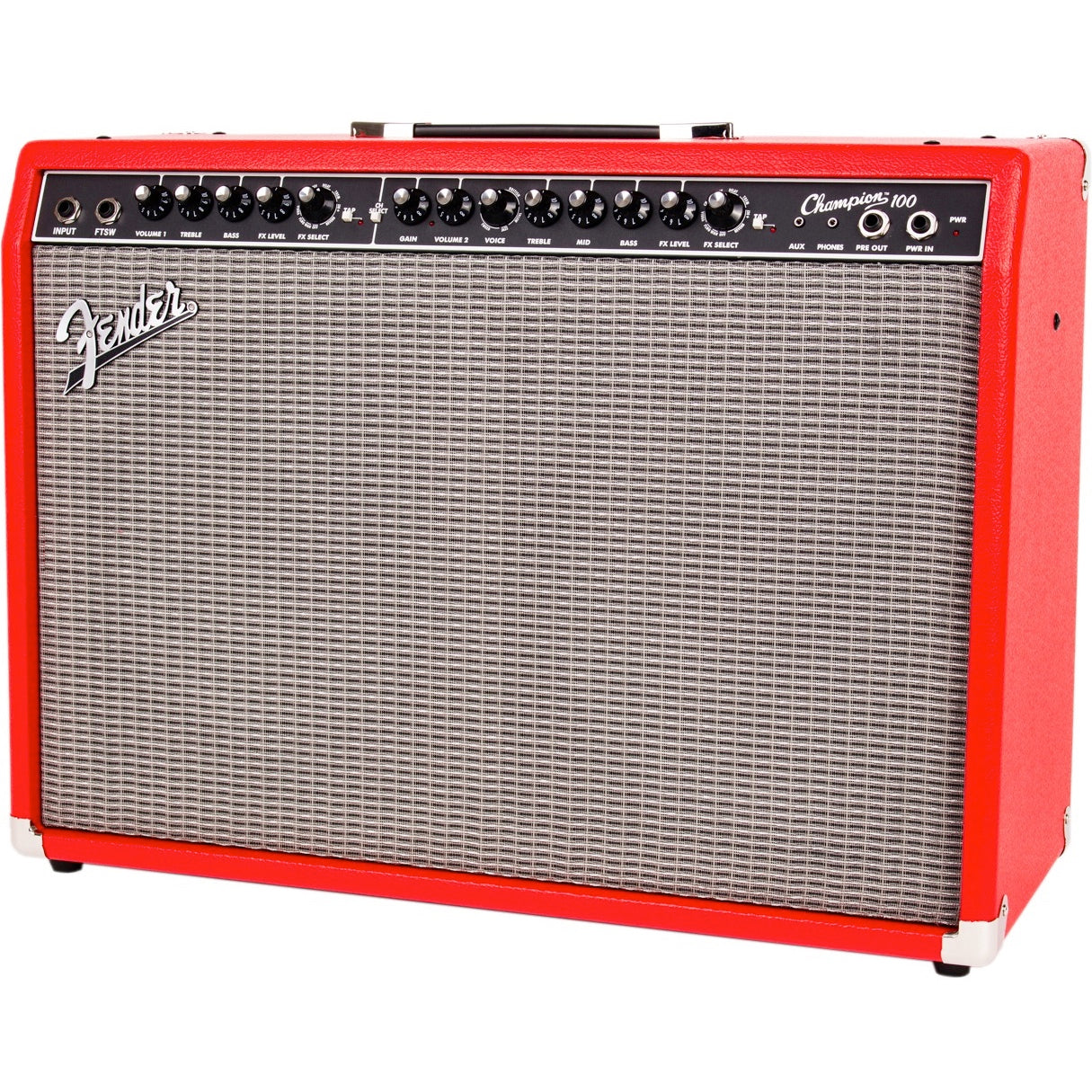 "Fender Champion 100 Red FSR Limited Edition Fender Special Run - 100-watt 2x12"" Combo Amp 