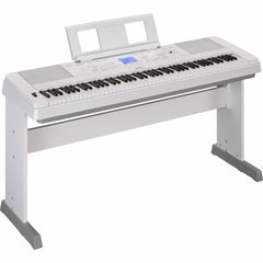 Yamaha DGX-660 Portable Grand 88-key Arranger Piano with Stand - White