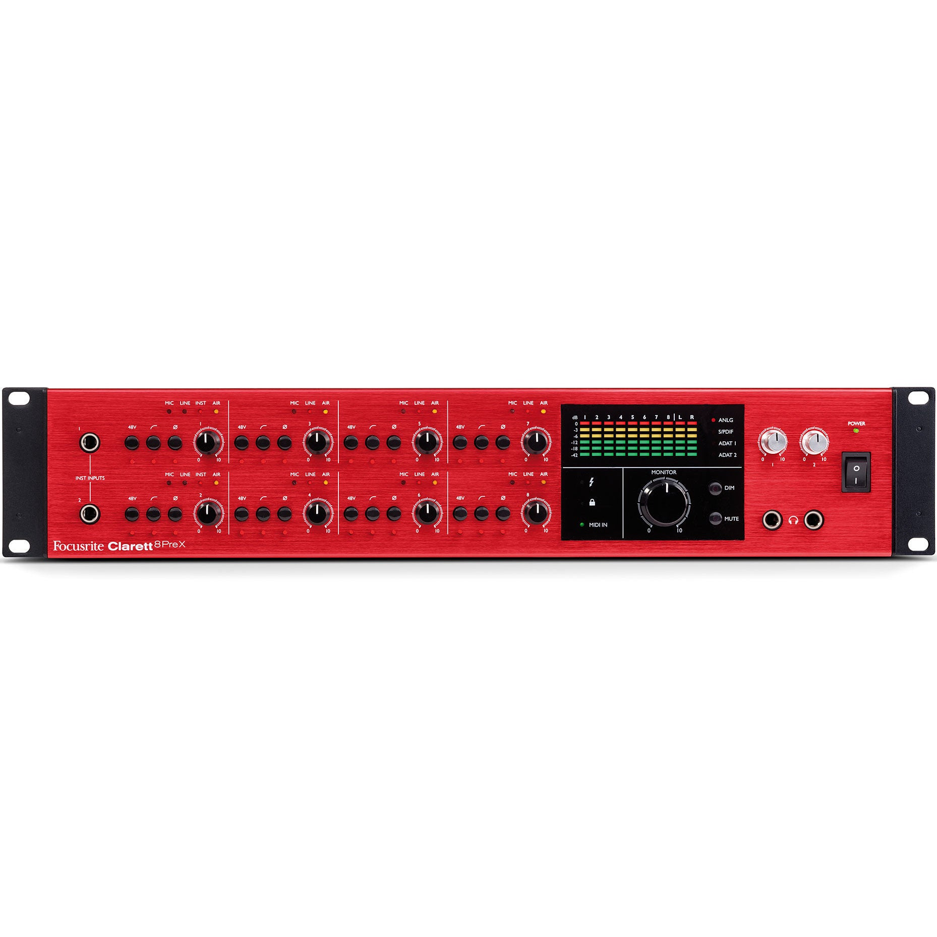 Focusrite Clarett 8Pre X 26x28 Thunderbolt Audio Interface | Music Experience | Shop Online | South Africa