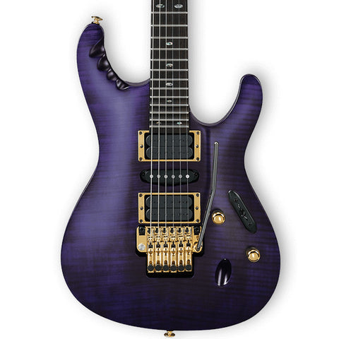 Ibanez EGEN18 Herman Li Signature Model Transparent Violet Flat