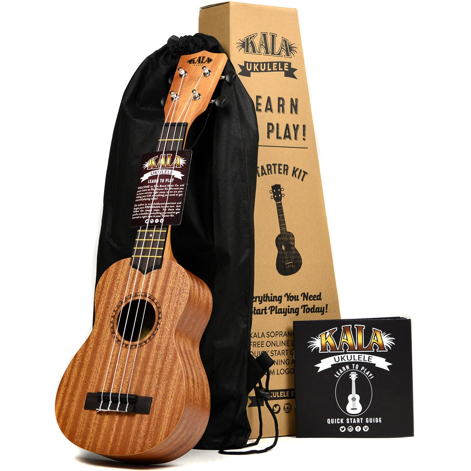 Kala LTP-S Learn To Play Ukulele Starter Kit Mahogany Soprano | Music Experience | Shop Online | South Africa