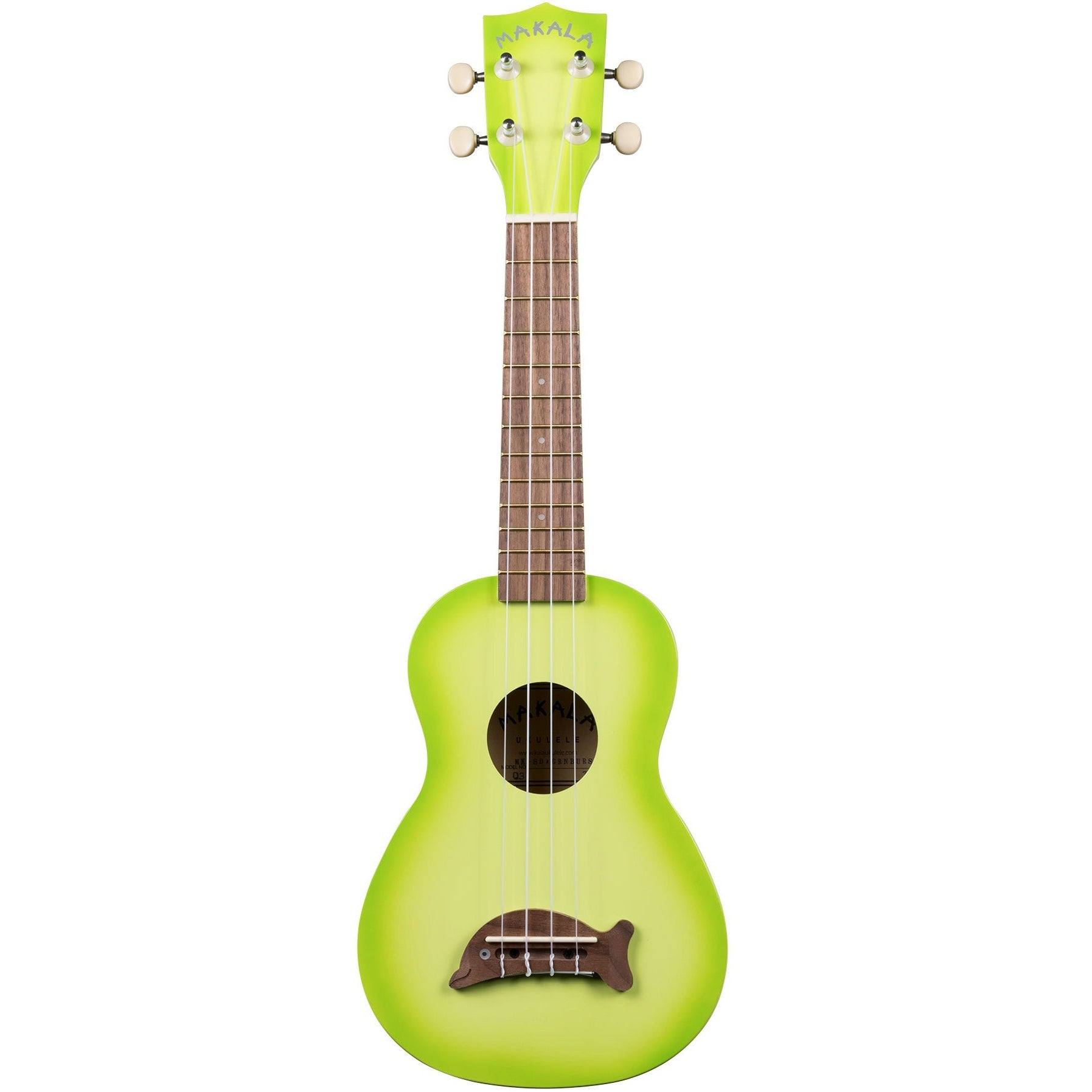 Kala MK-SD/GRNBURST Makala Green Apple Burst Soprano Dolphin | Music Experience | Shop Online | South Africa