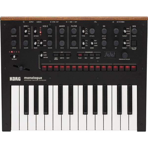 Korg Monologue Monophonic Analogue Synthesizer Black | Music Experience | Shop Online | South Africa