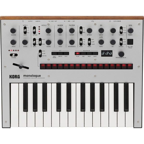 Korg Monologue Monophonic Analogue Synthesizer Silver | Music Experience | Shop Online | South Africa