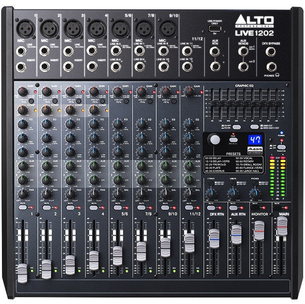 Alto LIVE 1202 Professional 12-Channel/2-Bus Mixer | Music Experience | Shop Online | South Africa