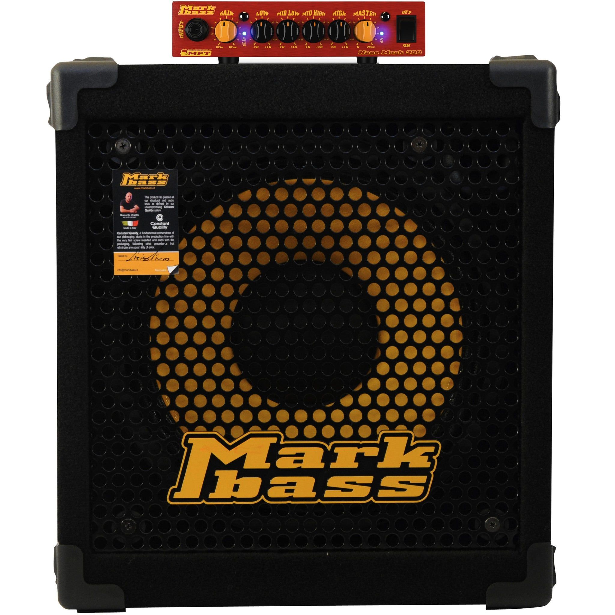 Markbass Nano Mark 300 Head & New York 121 Cab Bass Amp Combo