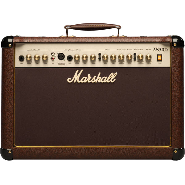 "Marshall AS50D 50-watt 2x8"" 2-channel Acoustic Combo - Brown 