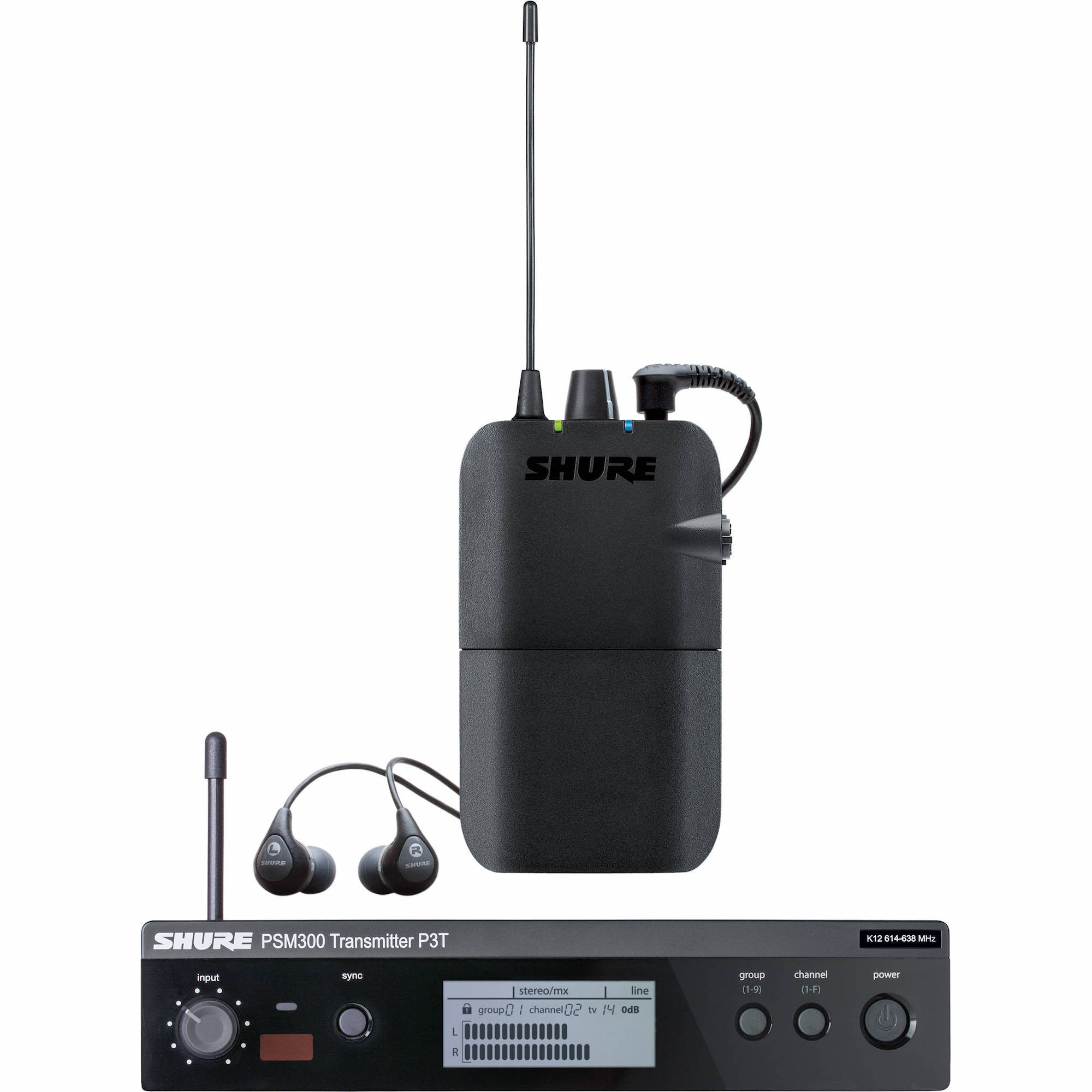 Shure P3TR112GR Personal Wireless In-Ear Monitor System | Music Experience | Shop Online | South Africa