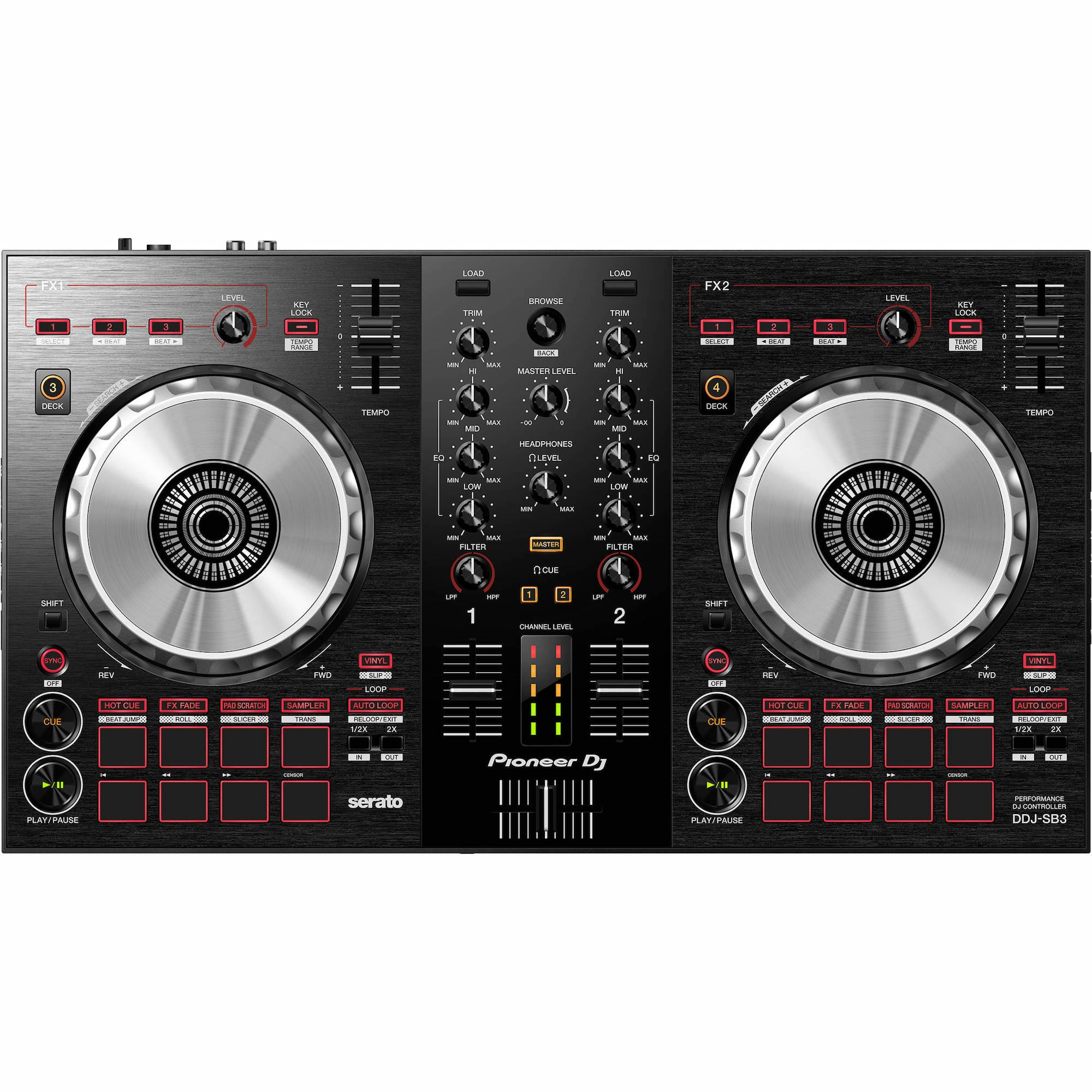 Pioneer DJ DDJ-SB3 4-deck Serato DJ Controller | Music Experience | Shop Online | South Africa