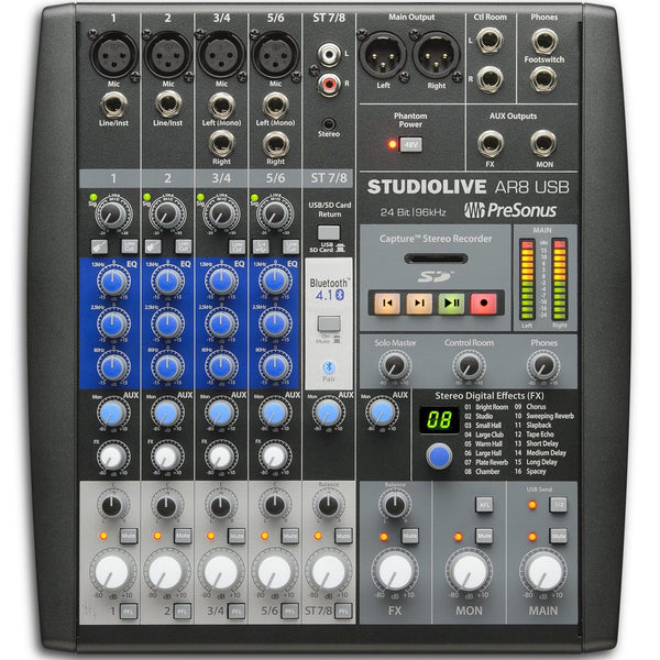 PreSonus StudioLive AR8 USB Mixer | Music Experience | Shop Online | South Africa