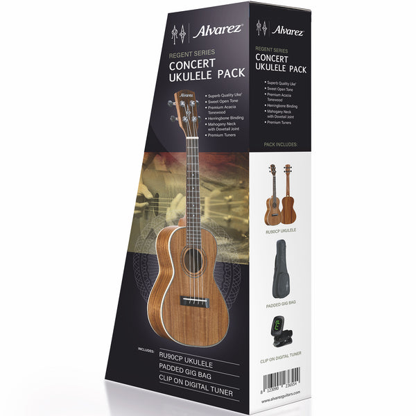 Alvarez RU90CP Regent Series Concert Ukulele Pack with Bag & Tuner | Music Experience | Shop Online | South Africa