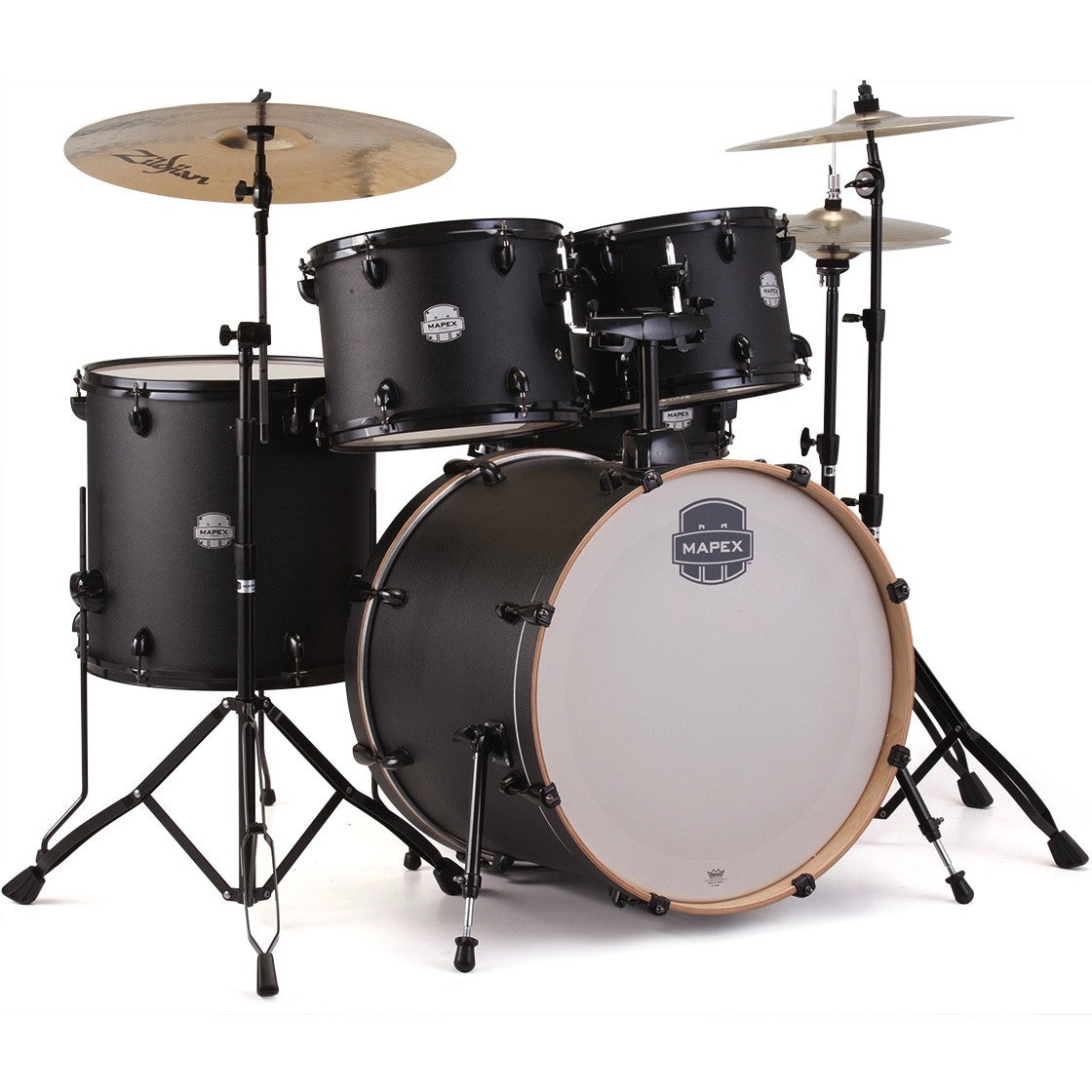 Mapex Storm 5-Piece Standard Drum Set - Deep Black | Music Experience | Shop Online | South Africa