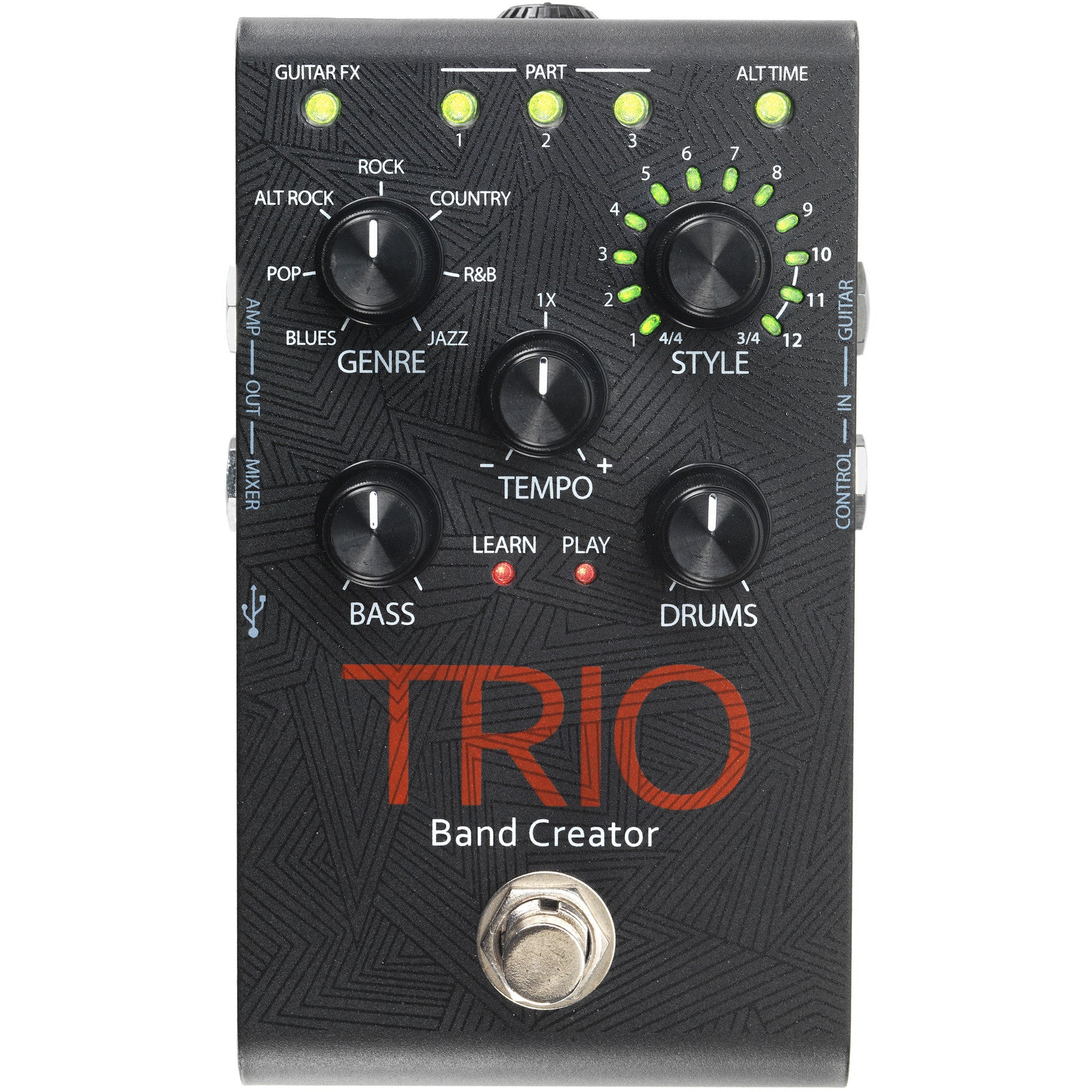 digitech trio effects pedal music experience online for sale. Black Bedroom Furniture Sets. Home Design Ideas