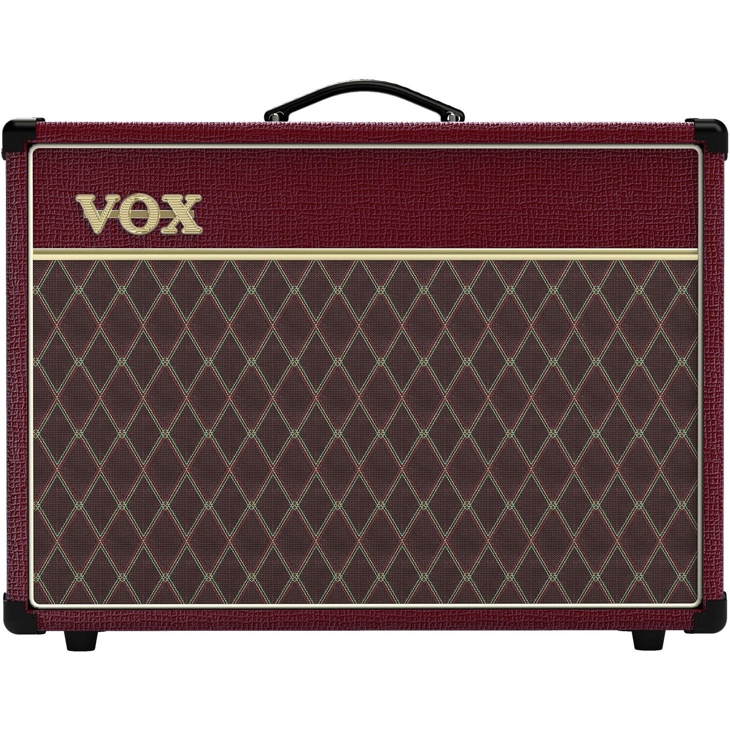 "Vox AC15C1-MB Limited Edition Maroon Bronco 15W 1x12"" Guitar Tube Combo Amp 