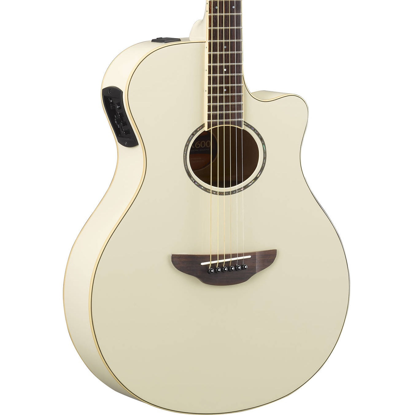Yamaha APX600 Thinline Vintage White | Music Experience | Shop Online | South Africa