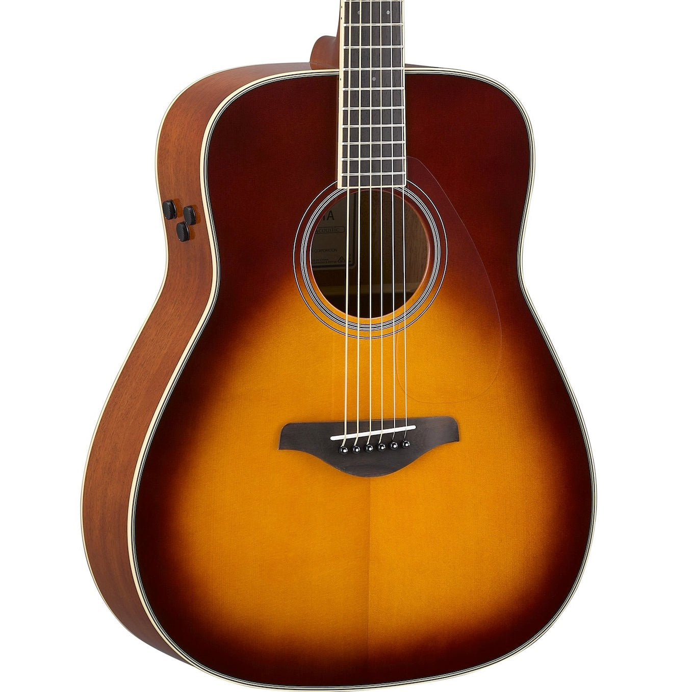 Yamaha FG-TA TransAcoustic Brown Sunburst | Music Experience | Shop Online | South Africa