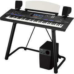 Yamaha Genos 76-key Arranger Workstation with Stand & Speaker System