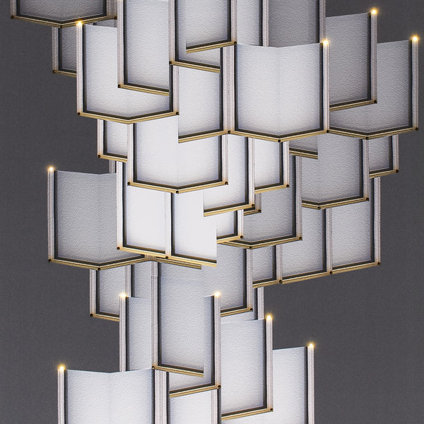 Lattice Systems LED Wallpaper Chandelier