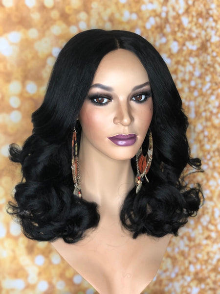 Gently Used TreBella Wigs Straight Yaki Unit 14in unit - TreBella Wigs