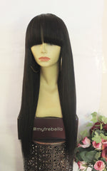 TreBella Wigs Smooth Straight Light Yaki Unit 22in