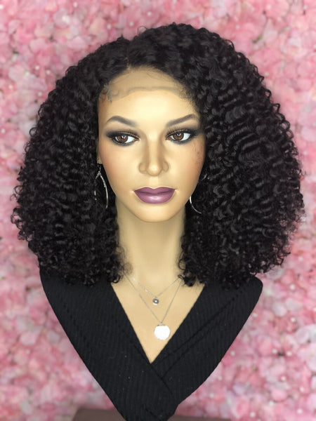 TreBella Kinky Curly closure unit, 18 in